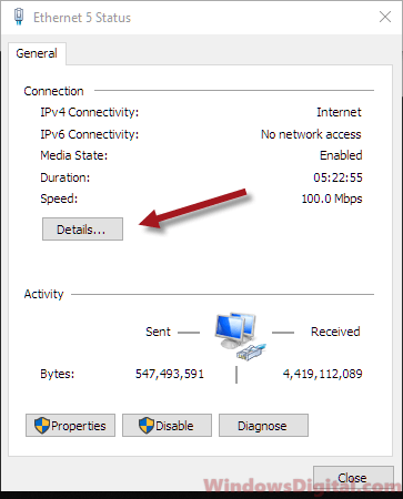 How to find MAC address on Windows 10 registry bluetooth