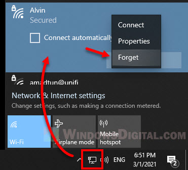 How to fix Can't connect to this network on Windows 10