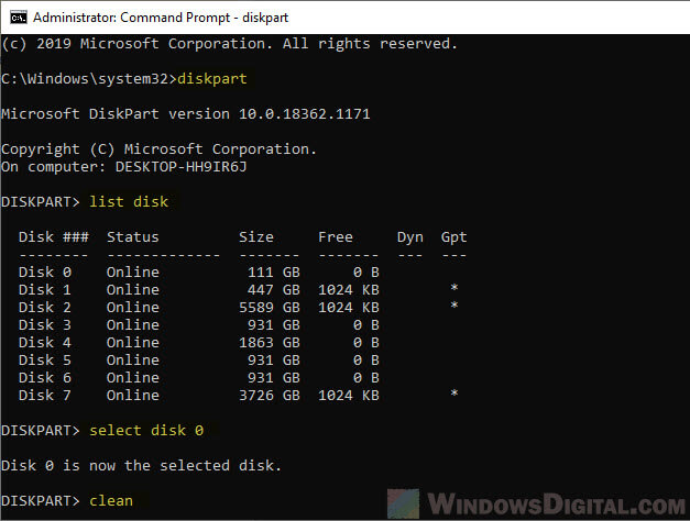 How to format HDD After Cloning Windows 10 to SSD