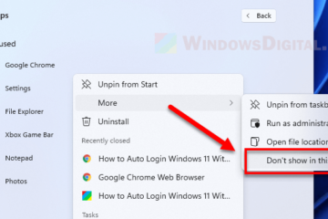 How to hide apps in Windows 11