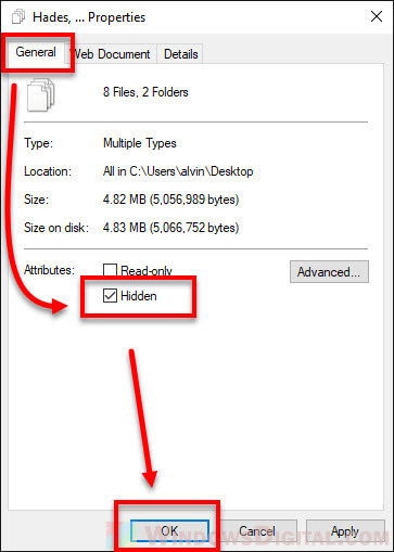How to hide some specific certain desktop icons Windows 10
