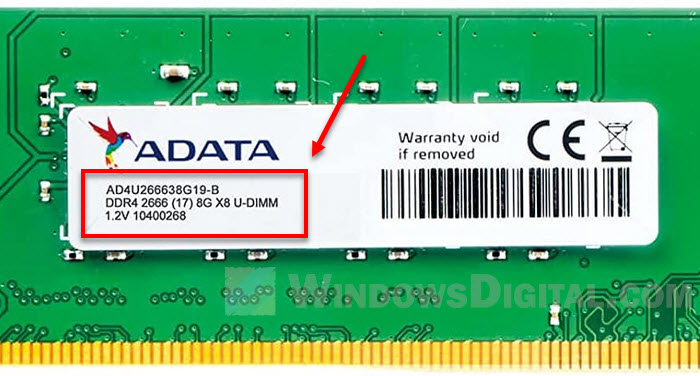 How to identify RAM type physically