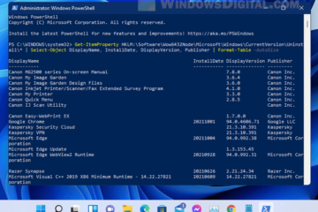 How to list installed programs in Windows 11