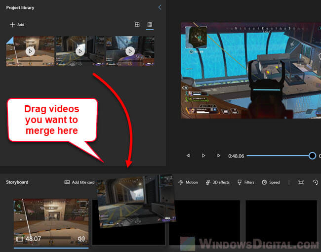 How to merge videos in Windows 10