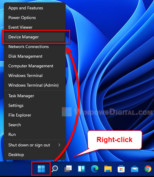 How to open Device Manager Windows 11