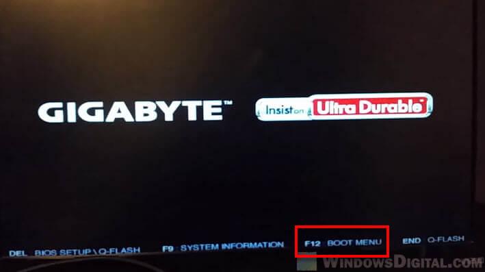 How to open boot menu bios Windows 10