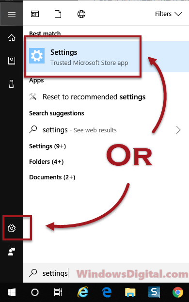 How to open windows 10 settings
