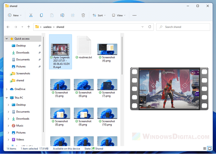 How to preview videos in File Explorer Windows 11
