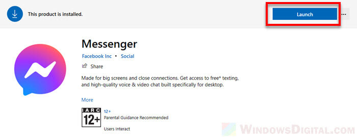 How to run facebook messenger on Windows 10 PC