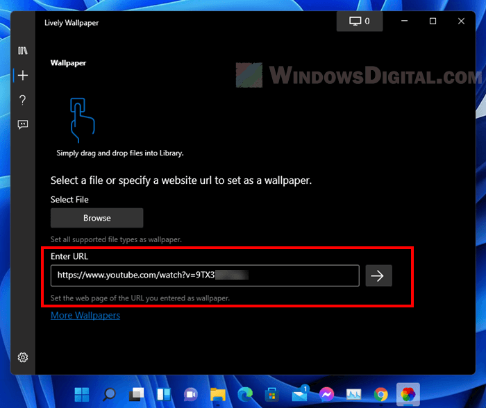 How to set YouTube video as wallpaper in Windows 11