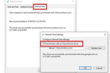 How to sync date and time with internet time server Windows 10