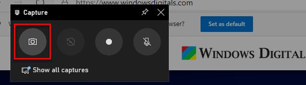 How to take screenshot Windows 10 Xbox Game Bar