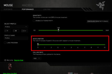How to turn off mouse acceleration in Razer Synapse