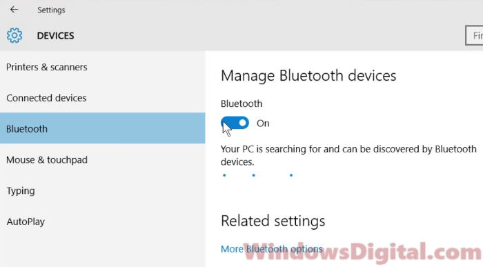 How to turn on bluetooth on windows 10 for laptop hp dell lenovo how to turn on bluetooth on windows 10 laptop ccuart Gallery