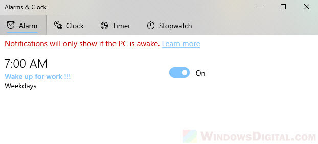 How to use alarms in Windows 10