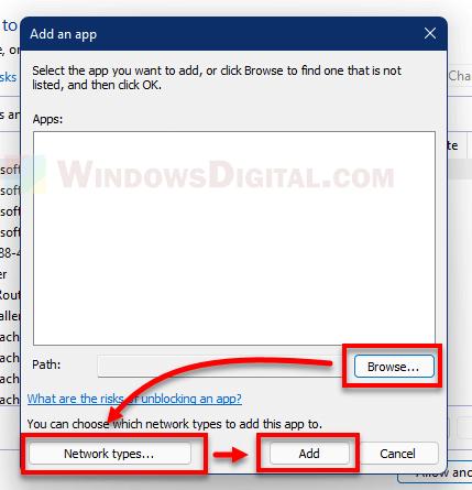 How to whitelist an app in Firewall Windows 11