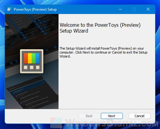 Install PowerToys Windows 11