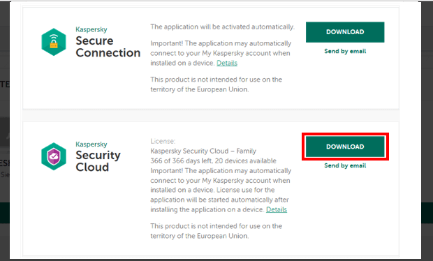 Kaspersky Security Cloud 2019 Download