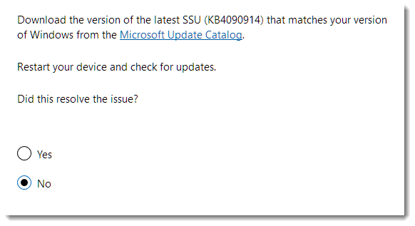 Latest servicing stack update Windows 10