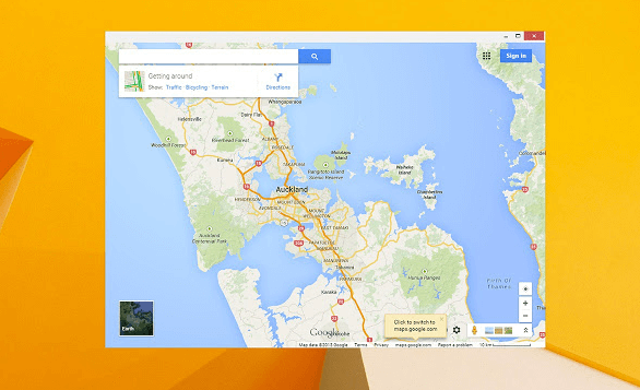 Launch Google Maps on Windows 10