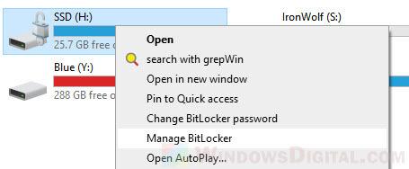 Lock and encrypt drive with BitLocker Windows 10