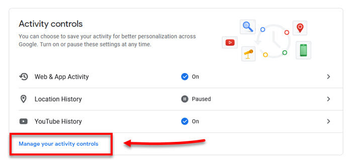 Manage Youtube and google activities for not interested feedback