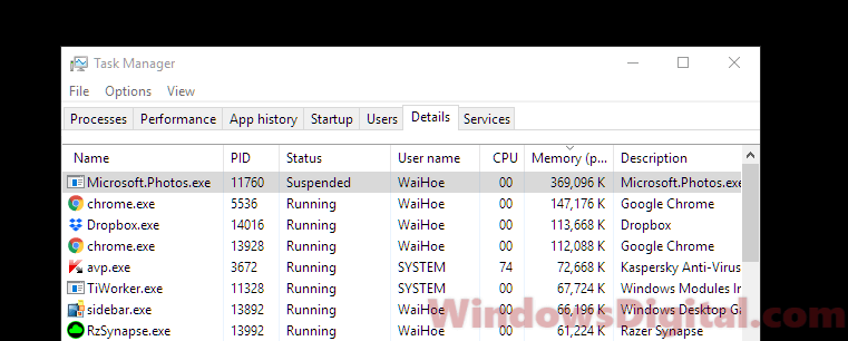 Microsoft.Photos.exe High CPU Memory Usage