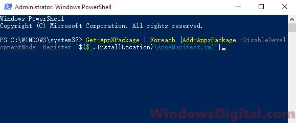 Microsoft.Photos.exe process disable uninstall re-register