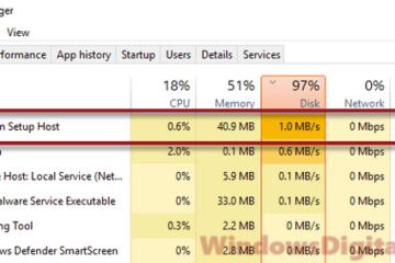 Modern Setup Host High CPU Disk Usage Windows 10