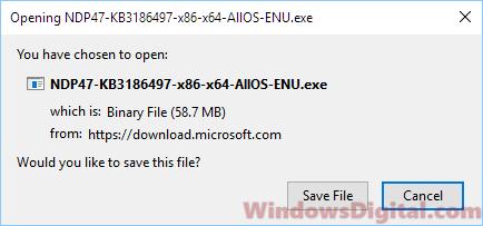 NET Framework 4.7 offline installer