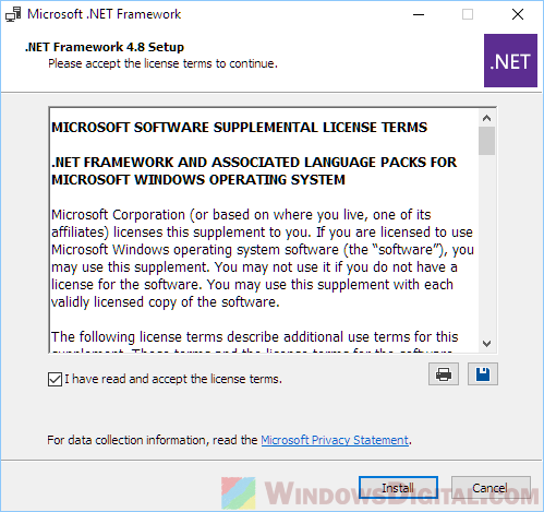 NET Framework 4.8 Offline Installer