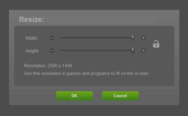 Nvidia Resize to fix underscan or overscan