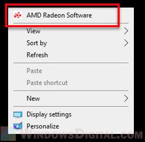 Open AMD Radeon Software Windows 10