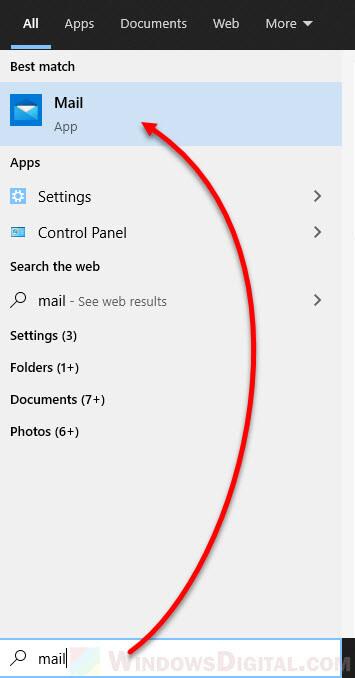 Open Default Mail App in Windows 10