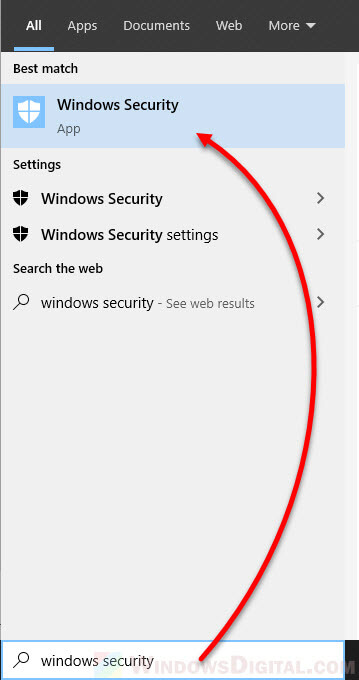 Open Windows Security Windows 10 disable firewall notifications