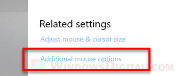 Open old mouse properties in Windows 10