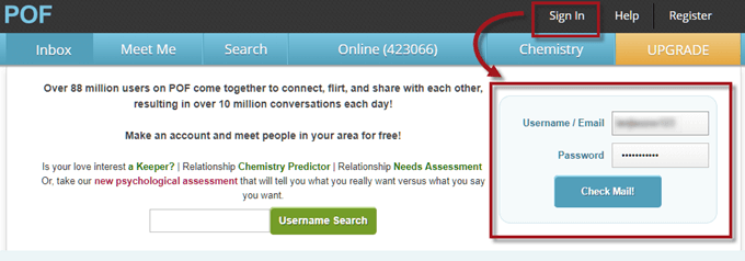 POF Login Inbox Sign In