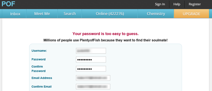 POF PlentyofFish Sign Up Issues Errors Not Working