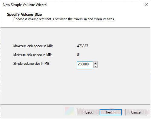 Parition External SSD Windows 10