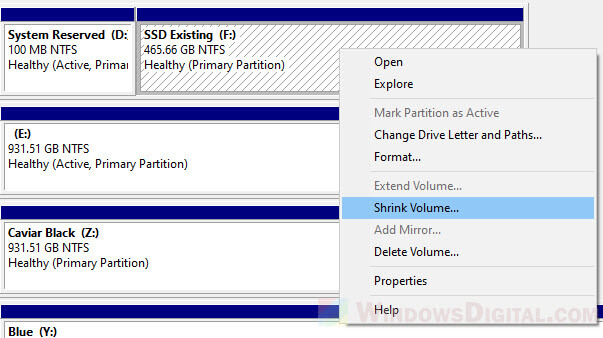 Partition SSD in Windows 10 without formatting or losing data