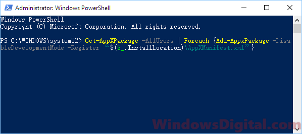 Powershell fix Task Manager Not Opening in Windows 10