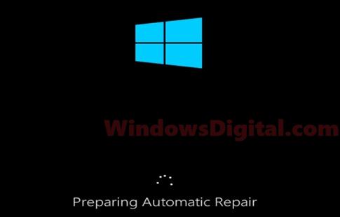 Preparing Automatic Repair Windows 10 Black Screen Loop Fix