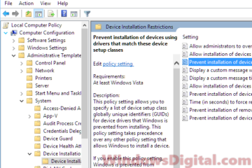 Prevent installation of device stop automatic driver update Win10