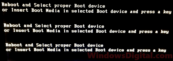 Reboot and select proper boot device Windows 10 Fix