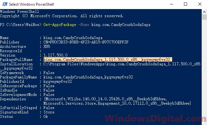 Remove Candy Crush Soda Saga from Windows 10