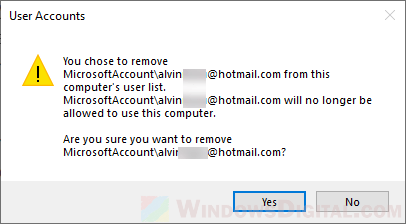 Remove Microsoft Account From Windows 10