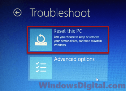 Reset PC Preparing Automatic Repair Windows 10 Black Screen