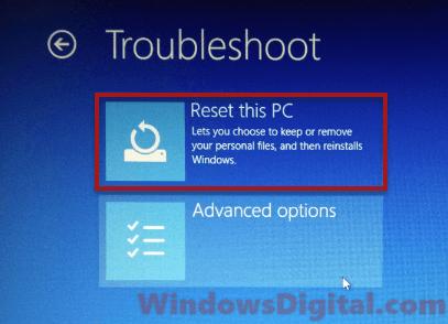 Reset PC Preparing Automatic Repair Windows 10 Black Screen