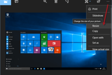 Resize image Windows 10 with Photos app
