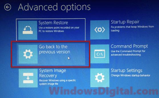 Rollback Preparing Automatic Repair Windows 10